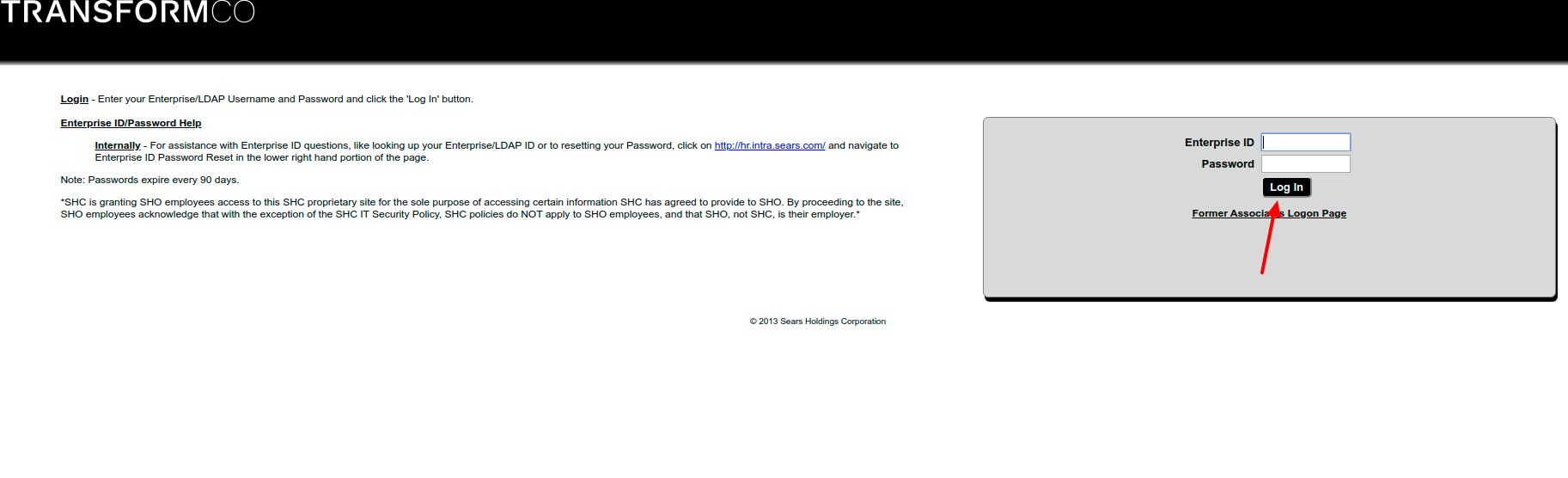 Associate Online Services Logon