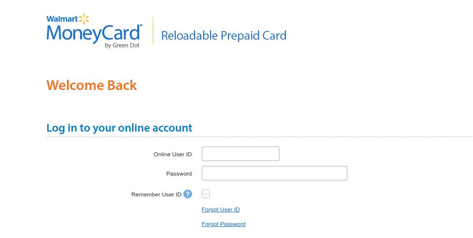 www.walmartmoneycard.com/login - Walmart Money Card Account Login Process -  Login Link