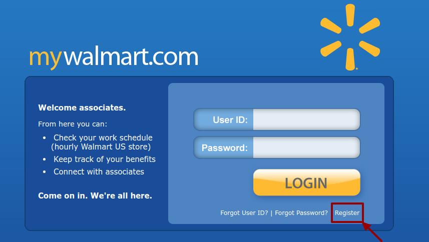 myWalmart register