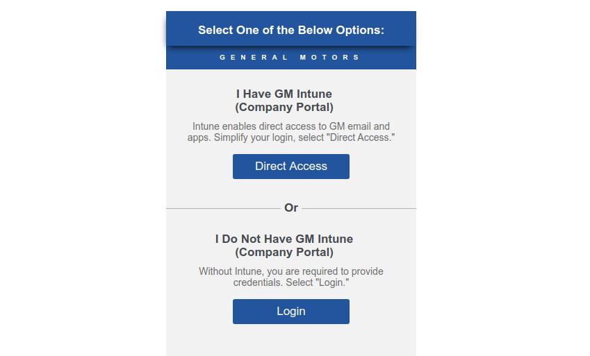 General Motors Login