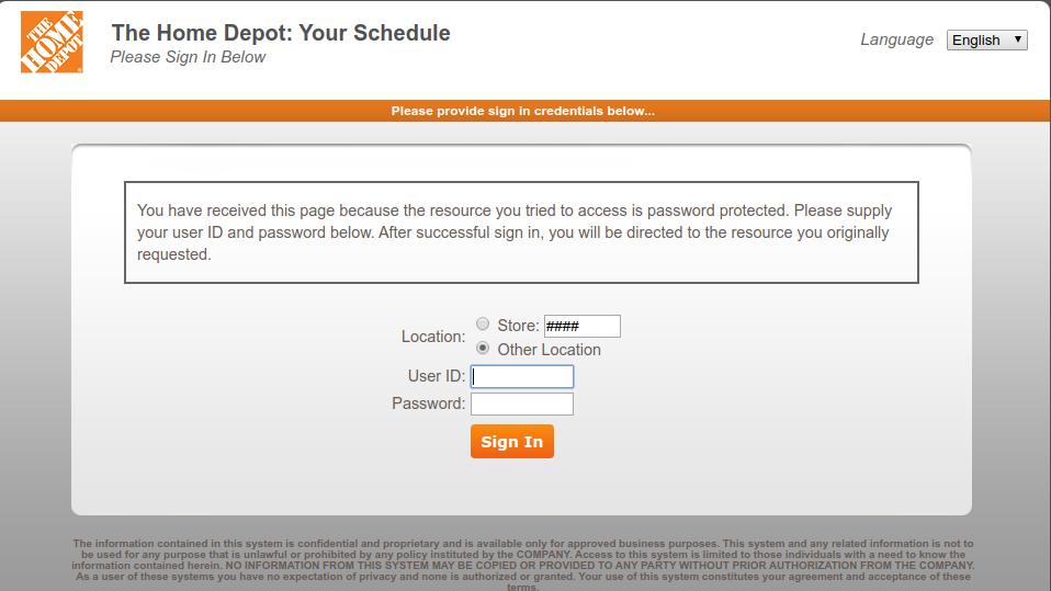 Mythdhr Com Home Depot Associate Kronos Account Login Login Link