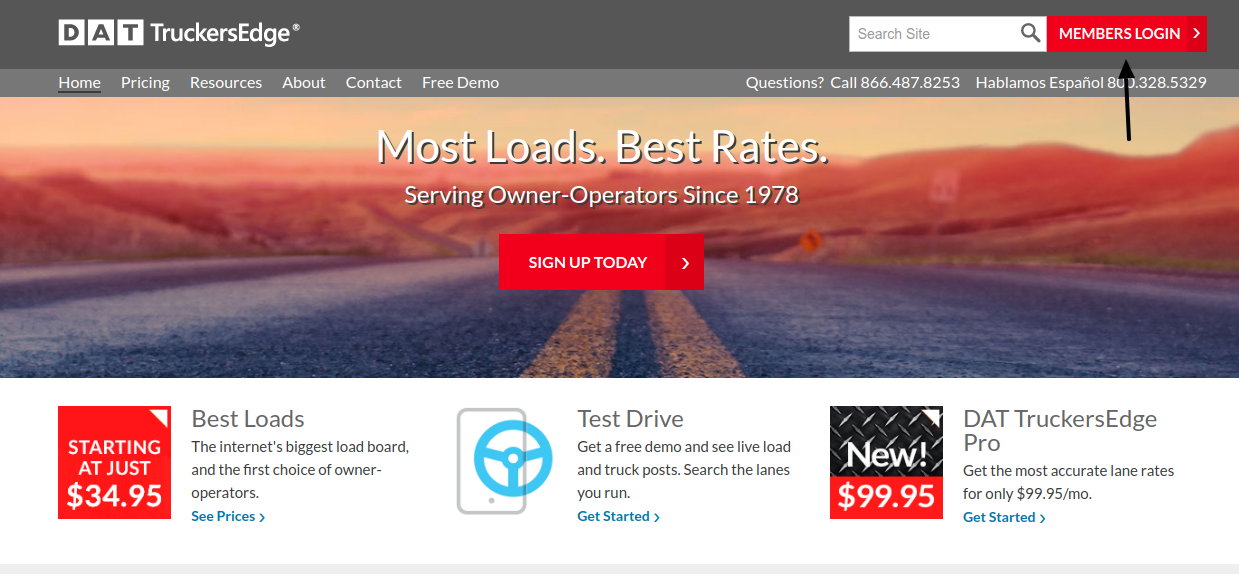 Com www login dat Load Boards