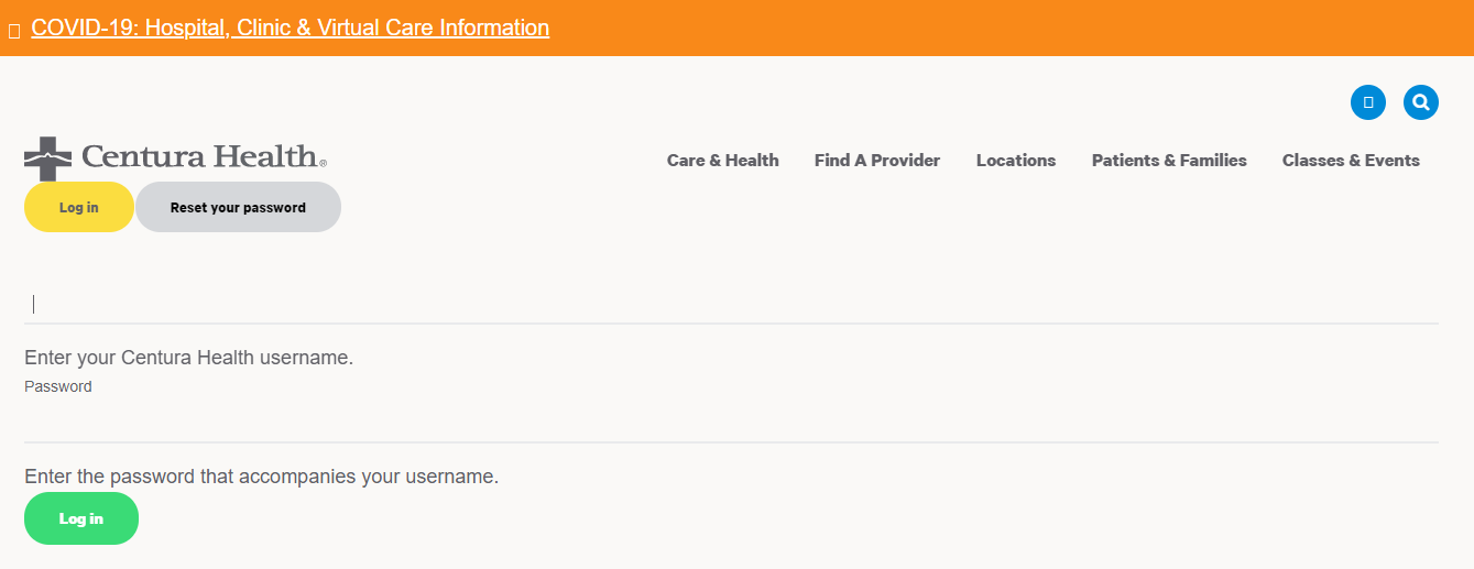 Centura health user login
