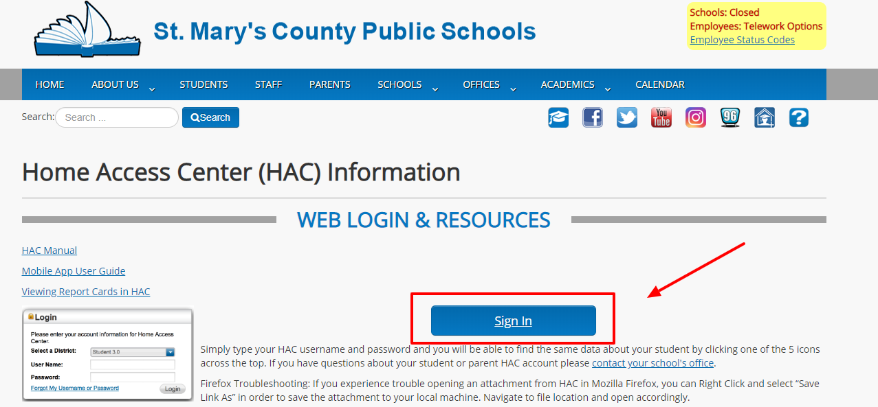 Login Your SMCPS Account