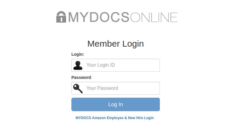 Amazon MyDocs Login