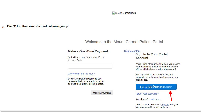 mount carmel patient portal login