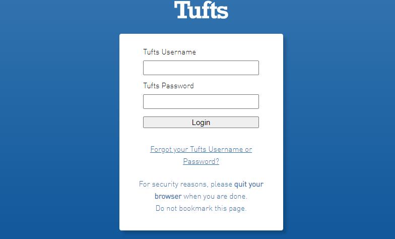 Tufts Login