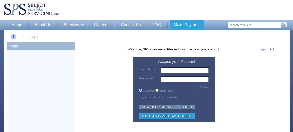 select portfolio servicing login