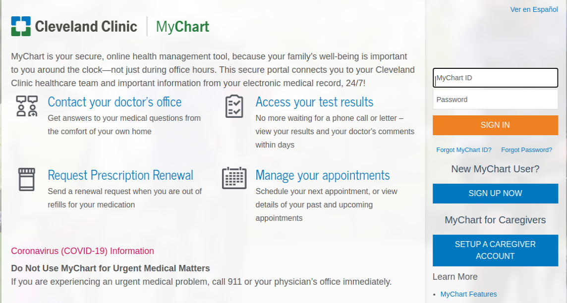 Mychart Cleveland Clinic Login