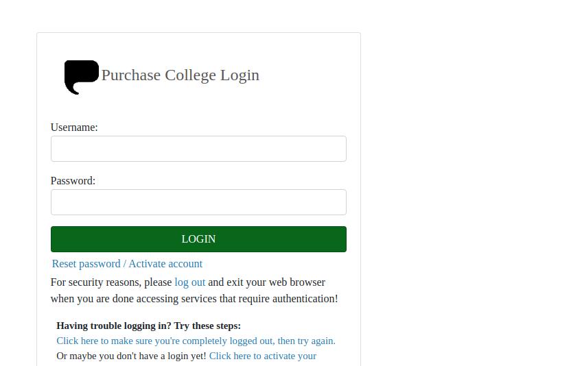 suny purchase login