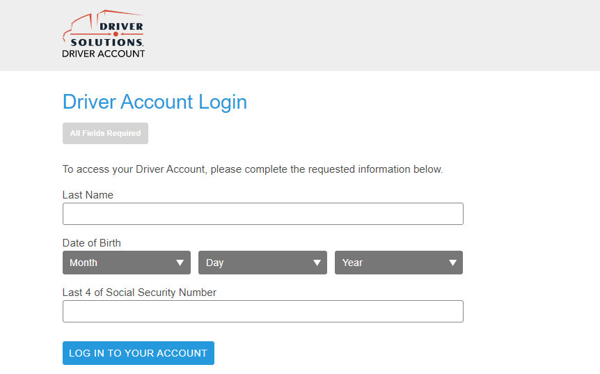 driver solutions login