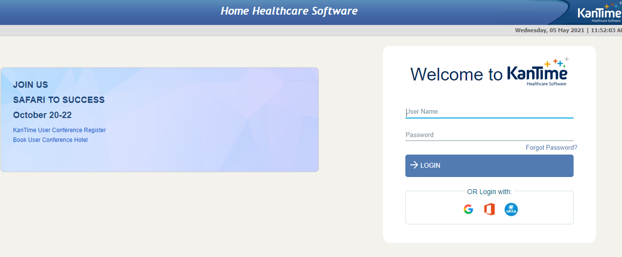kantime medicare login