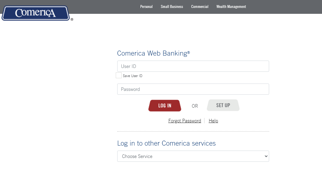 comerica banking login