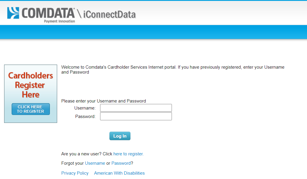 Comdata Cardholder Login